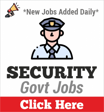 security govt jobs